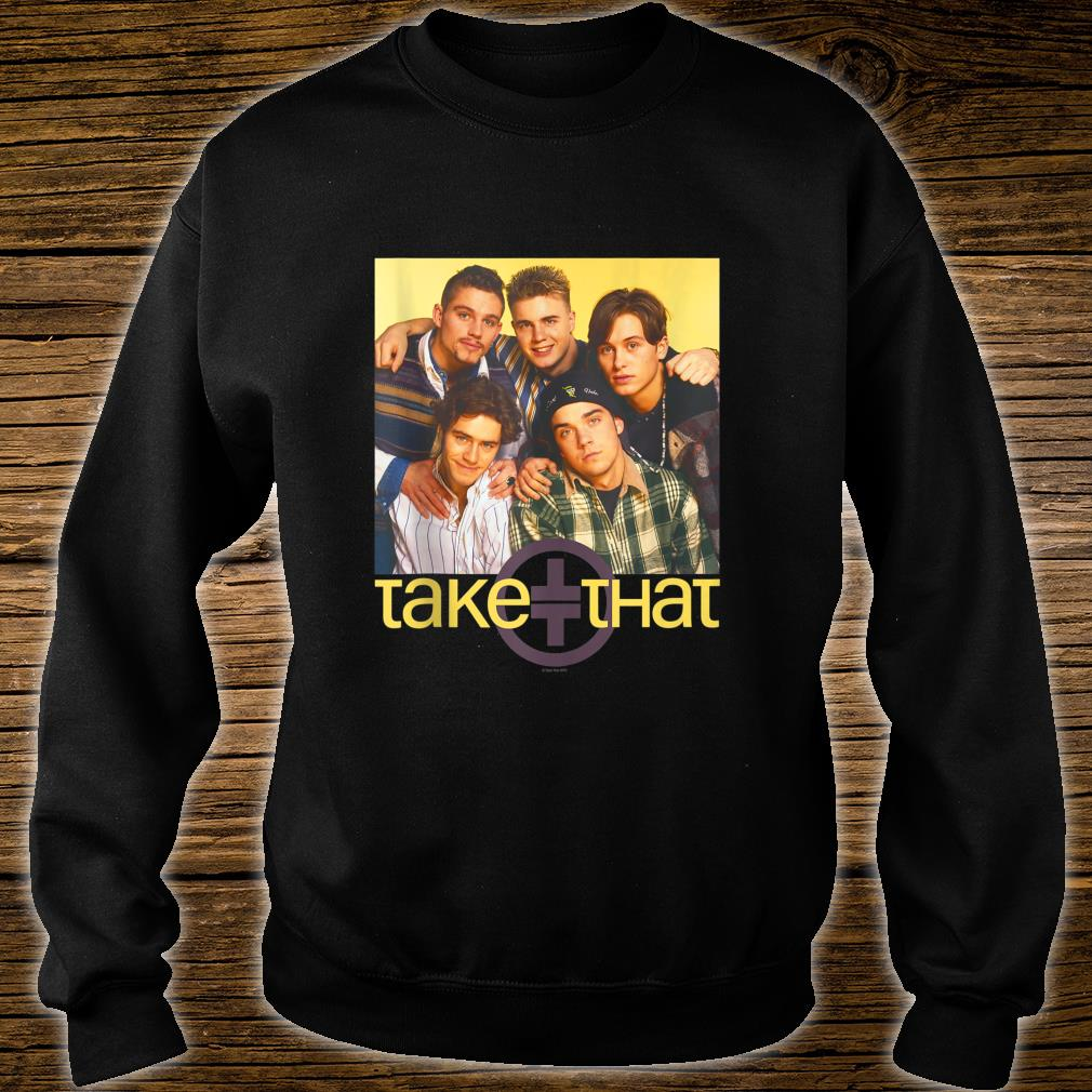 Take That Official Retro 90's Boyband Group Shot Shirt sweater
