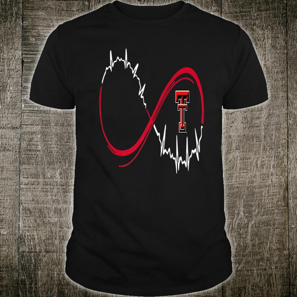 Texas Tech Red Raiders Nurse Infinity Heart Beat Team Shirt