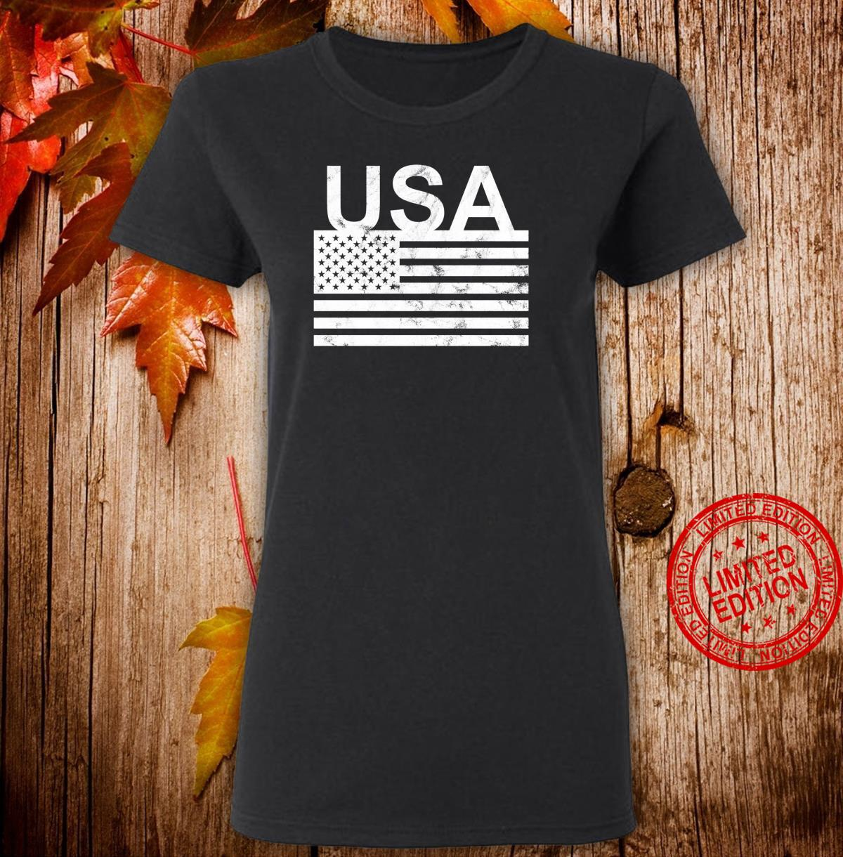 USA flag distressed designed Shirt ladies tee