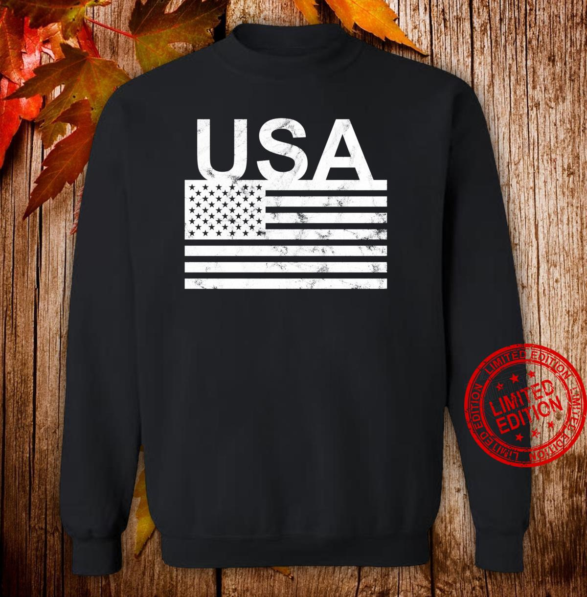 USA flag distressed designed Shirt sweater