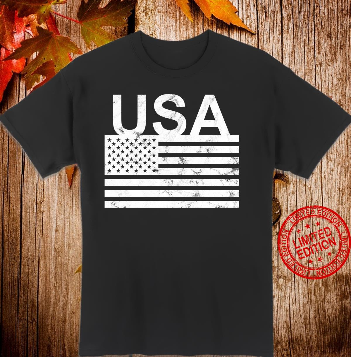 USA flag distressed designed Shirt