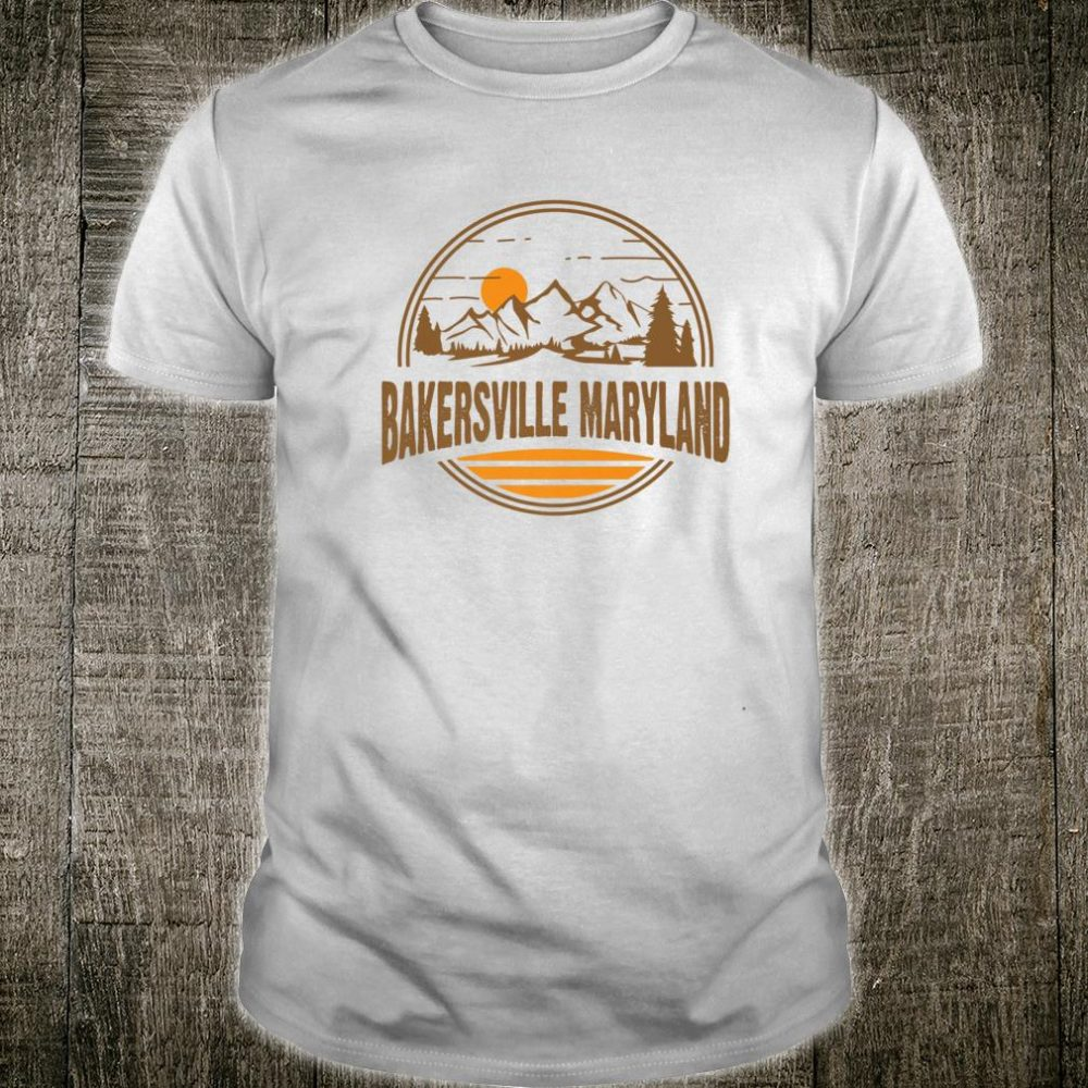 Vintage Bakersville, Maryland Mountain Hiking Souvenir Print Shirt