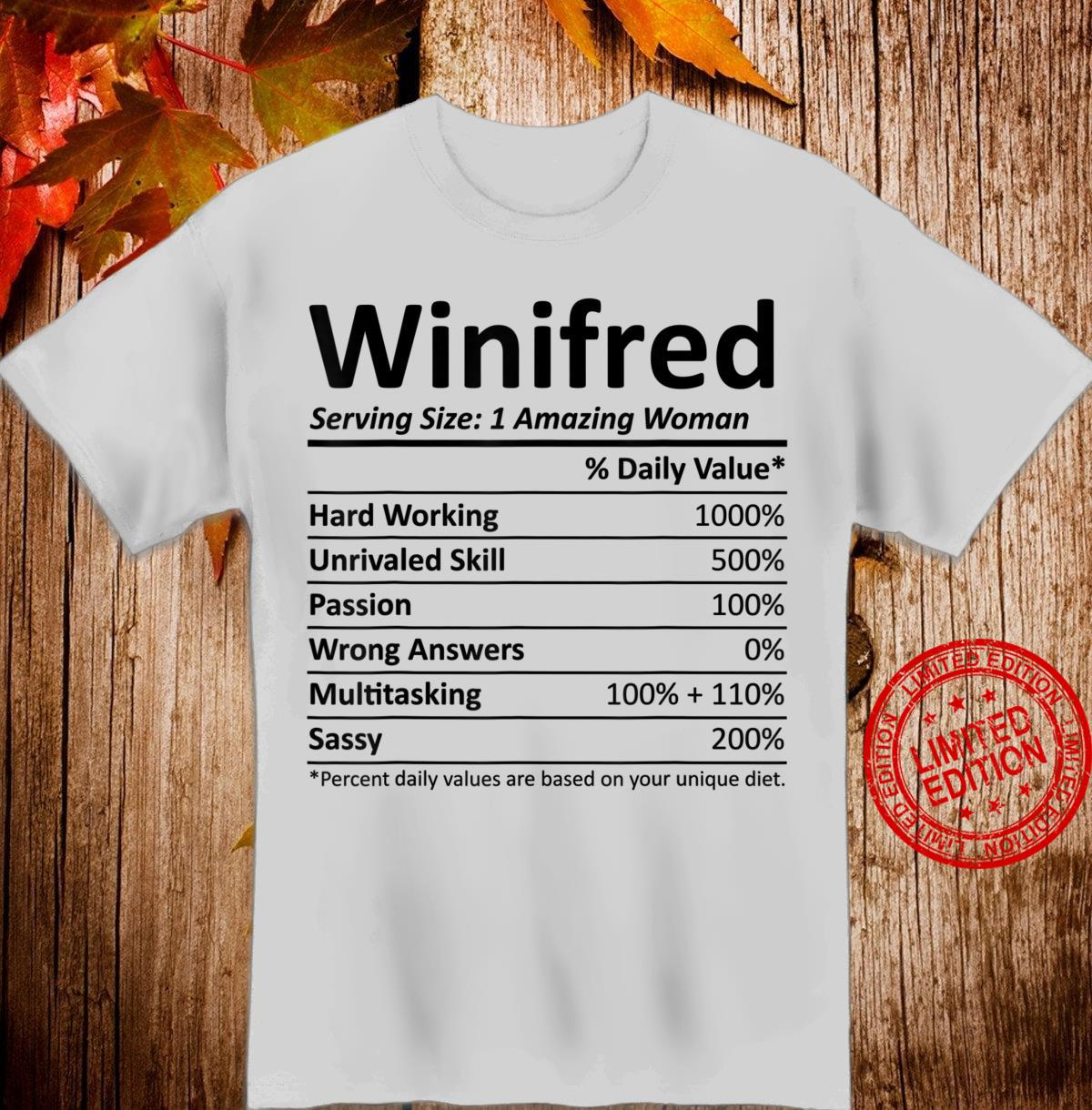 WINIFRED Nutrition Personalized Name Christmas Shirt