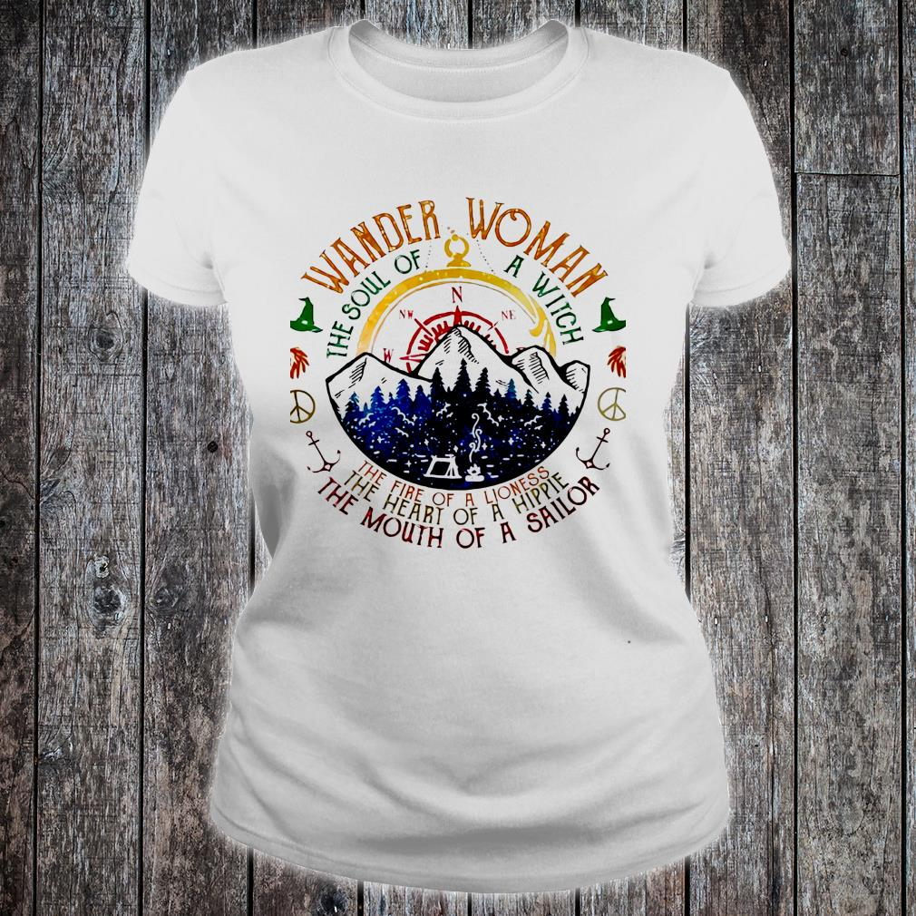 Wander woman the soul of a witch of a sailor shirt ladies tee