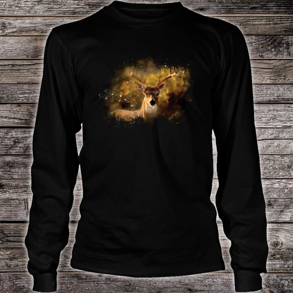 Watercolor Deer Art Shirt long sleeved