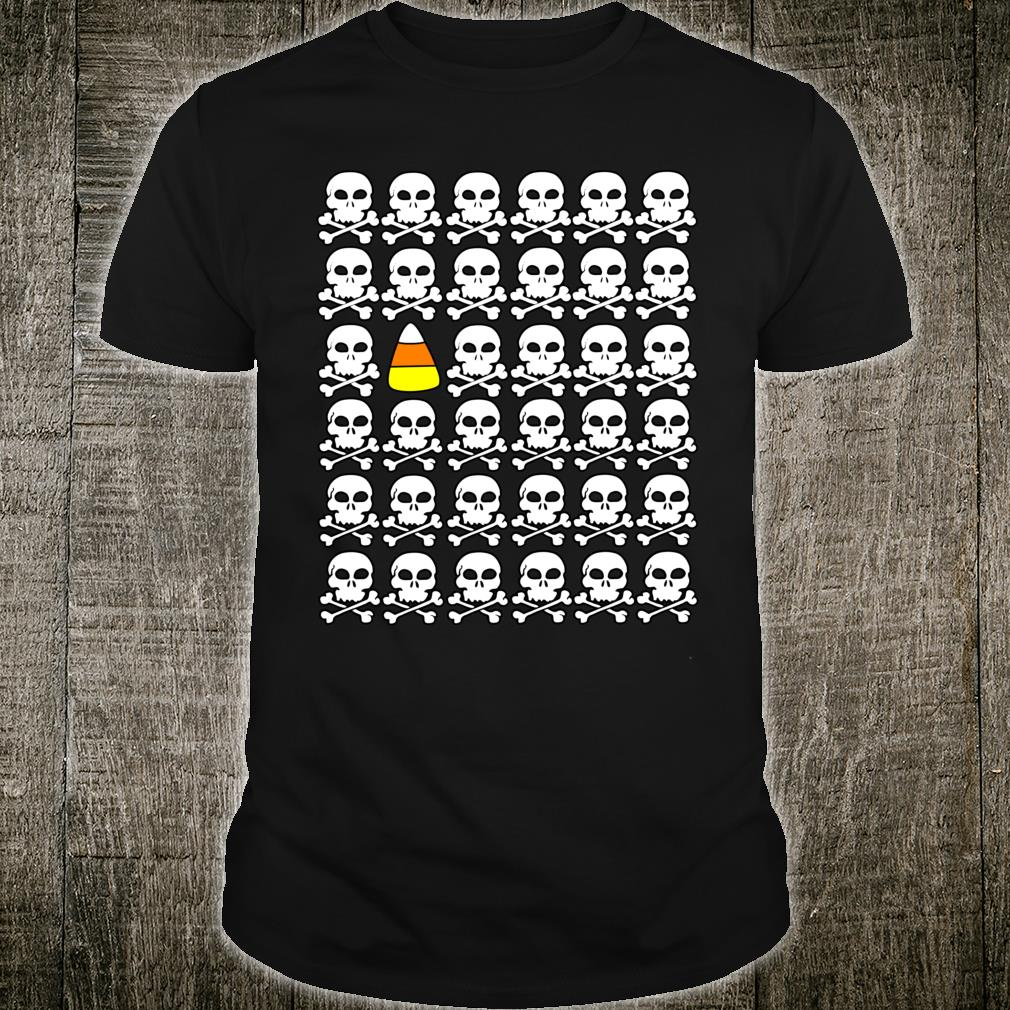 Whimsical Skulls and Candy Corn for Halloween Shirt